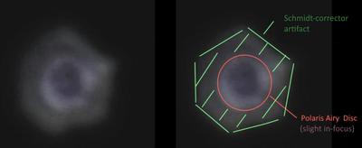 Schmidt-corrector artifact on MTS-SN6