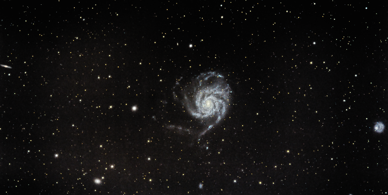 M101, Backyard, about 3 hours exposure time