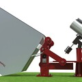 Imaging Flip Over Observatory - Render 12 - Open Position - Enclosure Pier Is Not Attached To Telescope Pier