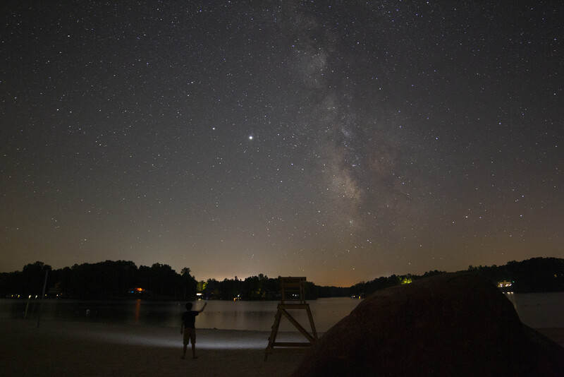 Milky Way Over Lake Monticello with Charlie - UNedited