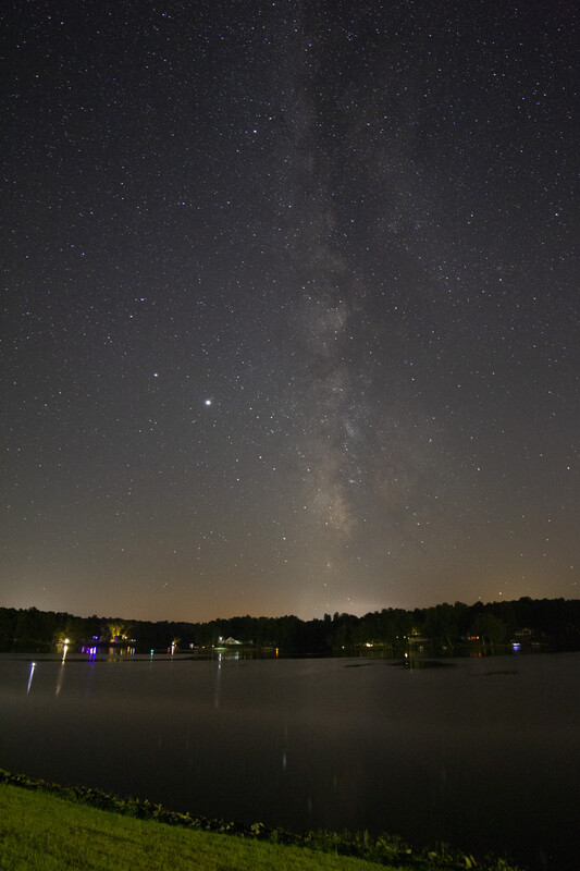 Milky Way Over Lake Monticello Marina - UNedited