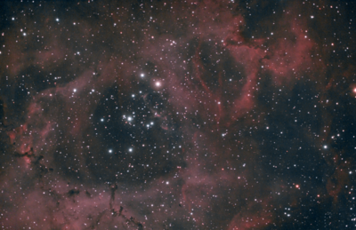 Rosette Nebula rescaled for desktop background