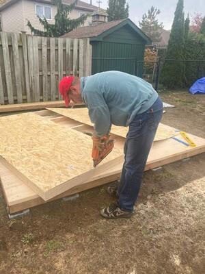 Wall Framing with Cordless nailer!
