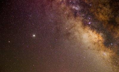 Jupiter Saturn MilkyWay Web
