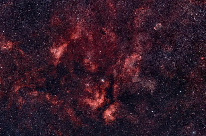 Sadr, Butterfly and Crescent Nebulae