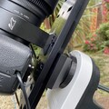 Skywatcher AZ-GTi ADM dovetail adapter ring cover - after (with dovetail and camera)