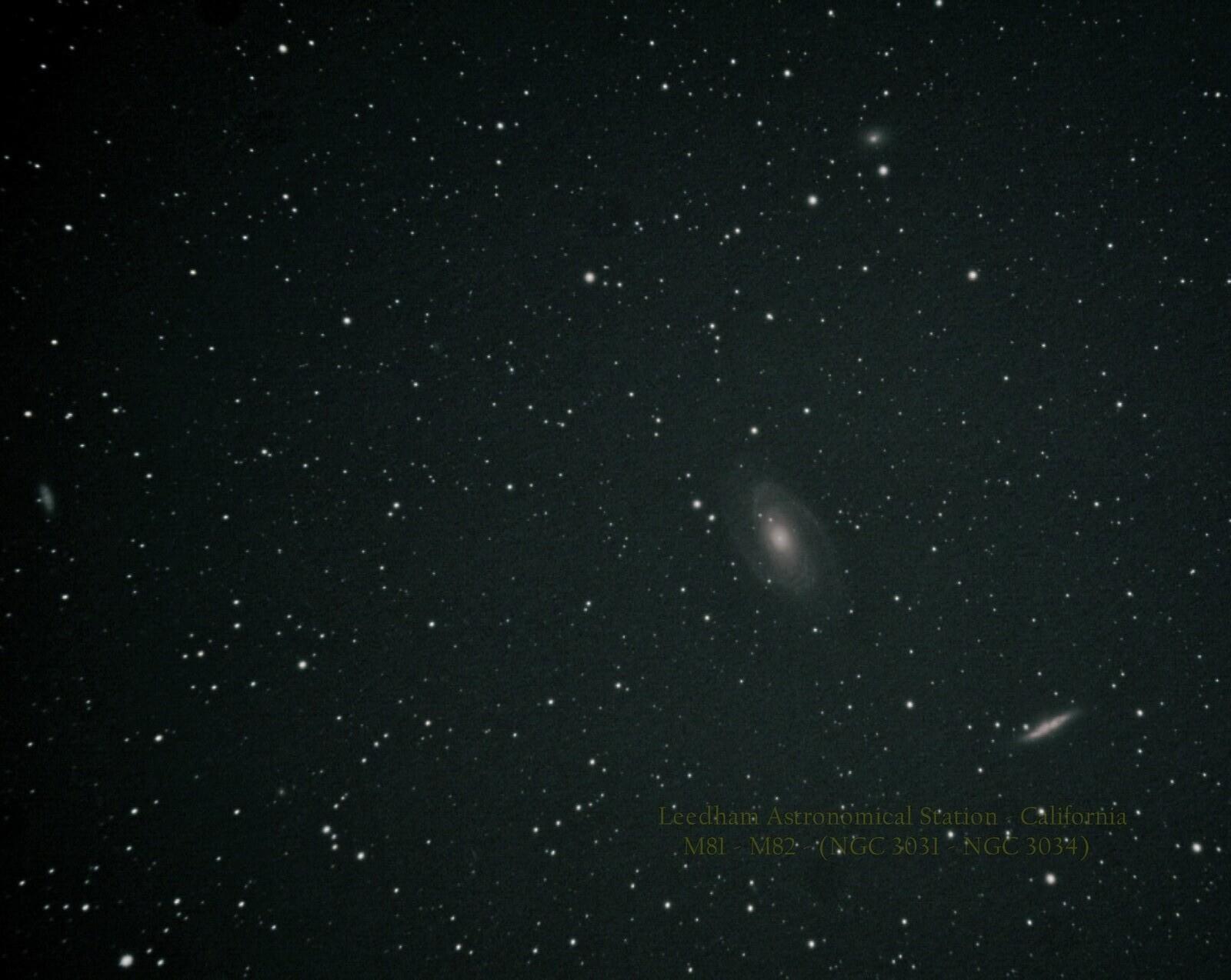 M81 & M82 In Ursa Major   California   May 2020