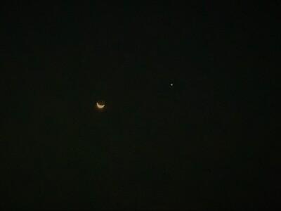 Moon And Venus   9 14 2020