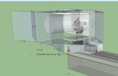 CAD design for an automated custom slide-off telescope enclosure