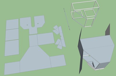 Laser cutting layout for an automated custom slide-off telescope enclosure