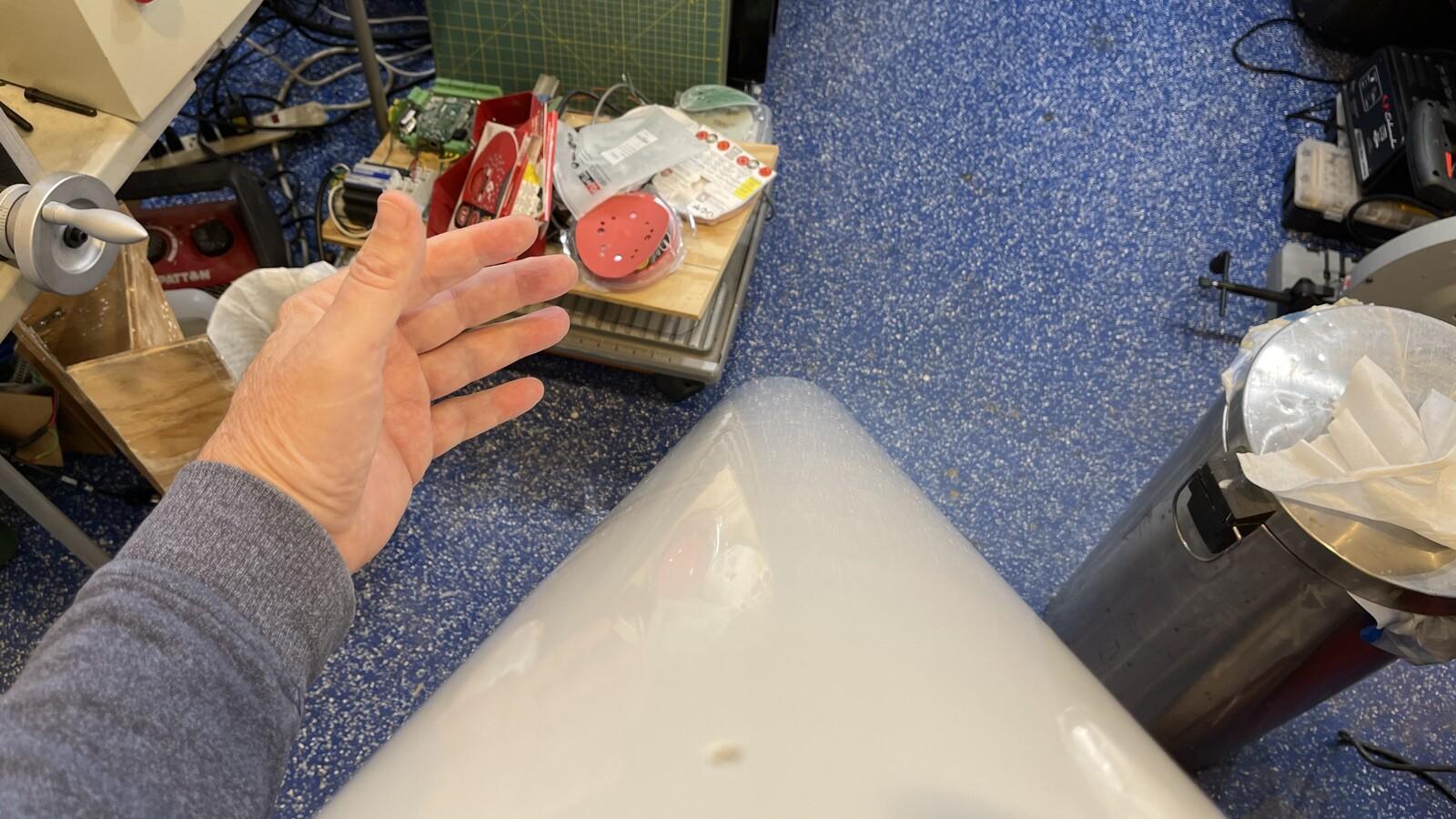 Shiny tube after polishing