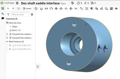 New Dec shaft interface CAD
