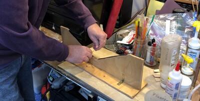 Building the tube fixture cradles