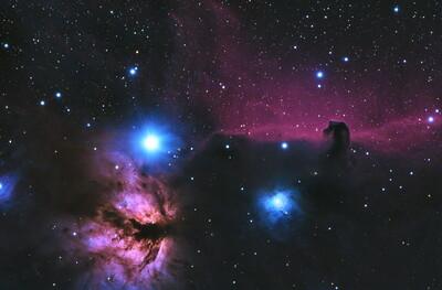 B33 And NGC 2024 Horsehead And Flame Nebulas