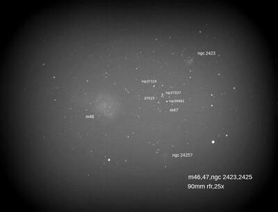 M46,47,ngc 2423,25