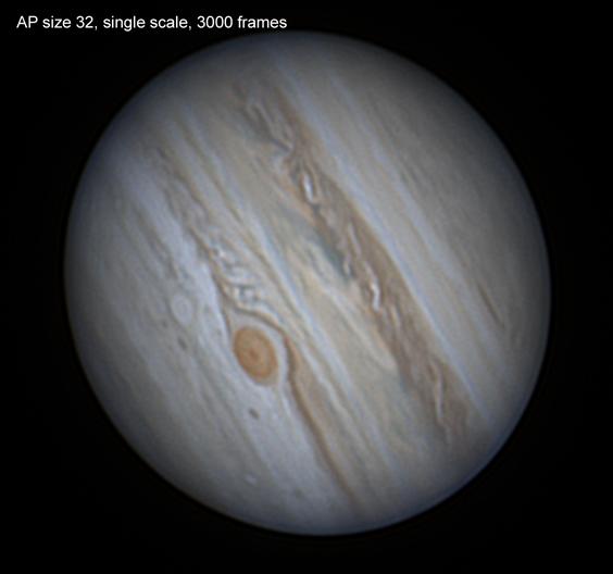Jupiter 30/07/20, effect of AP size, single scale, 32 vs 80