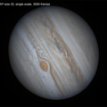 Jupiter 30/7/20, effect of AP size, single scale
