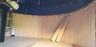Pole Wrap used for interior wall