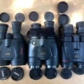 Size 1 of Canon 18x50, 15x50, 10x42 (left to right)