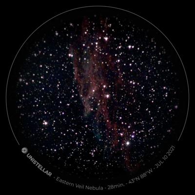 eVscope 28min eyepiece view