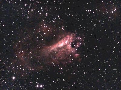 Omega Nebula, Bortle 9, 10 min