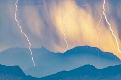 Kitt Peak in the storm