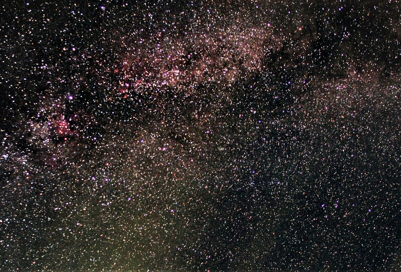 Milky Way through Cygnus (and some clouds)