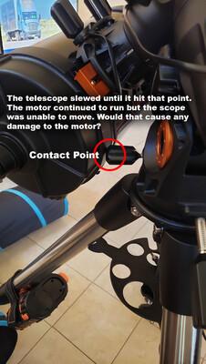 motor damage possibility