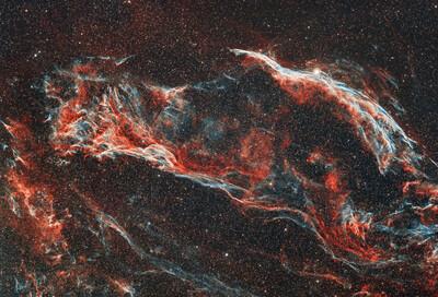 NGC6960 WesternVeilNebula 2021.09.22 23 24 126x300s Ab