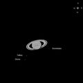 Saturn and 3 Moons