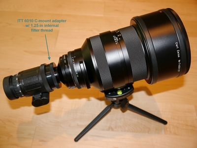 ITT 6010 NV Monocular coupled to Contax/Zeiss ApoSonnar 200mm/f2 Lens