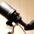 Star-Tron MK428/LR170 Lens with Right Angle Relay and Eyepiece on Half Hitch Telescope FTQ Mount