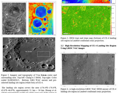2019 JulyTOPOGRAPHIC ANALYSIS OF CHANG'E 4 LANDING SITE USING ORBITAL, DESCENT AND GROUND DATA paper