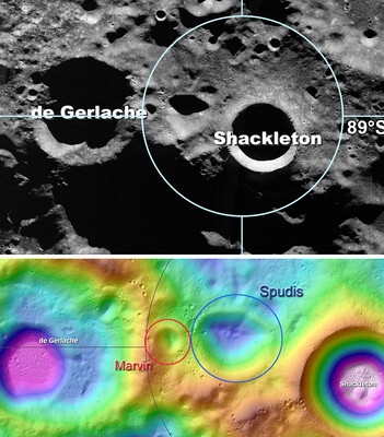 Marvin & Spudis At The lunar South Pole
