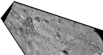 290MetreDistanceTracks And ImpactCrater Overhead