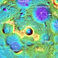 Tooley crater In context   topographic view