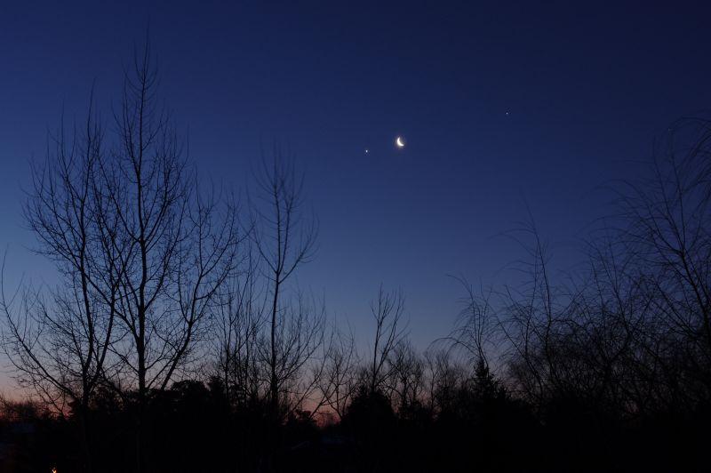 Venus-Moon-Jupiter Conjunction of January 31, 2019