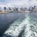 Leaving Seattle on a cruise ship