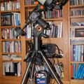 C8 edge on a CGEM mount with a pier extension and a tripod spreader.
