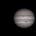 Jupiter and Io, April 26 2017
