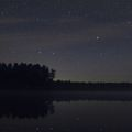 Big Dipper over the waters of White Lake