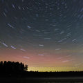 Star Cirles over the While Lake