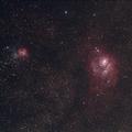 M8 Lagoon and M20 Trifid Nebulas