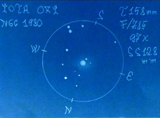 IOTA ORI  NGC 1980