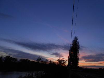 Sunset over Mures River.24.10.16.DSCN3667