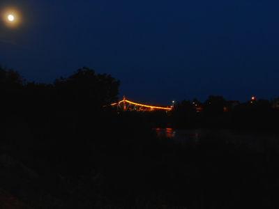 Hunter Moon over river Mures And Traian Bridge.14.10.16.DSCN3563