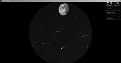 Conjunctie Luna  Jupiter 13.07.19.21h45min.ODV
