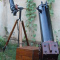 200mm Circus Cannon ''Toleascope'' Dobsonian&90x600mm refractor on ''Penelopa'' 1.5'' pipe-mount