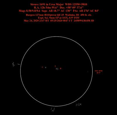 STF 1691 in Ursa Major