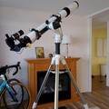 4in. F/11 Sky Rover refractor on a Skywatcher alt-azimuth mount